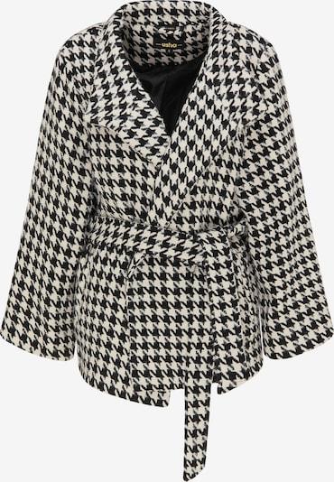 usha BLACK LABEL Tussenmantel in de kleur Zwart / Wit, Productweergave
