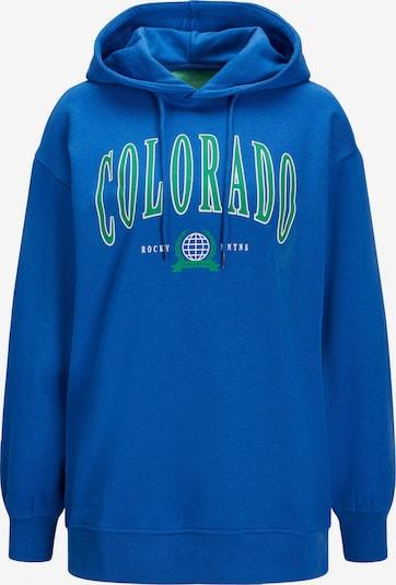 JJXX Sweatshirt 'BOSTON' in royalblau / grasgrün / weiß, Produktansicht