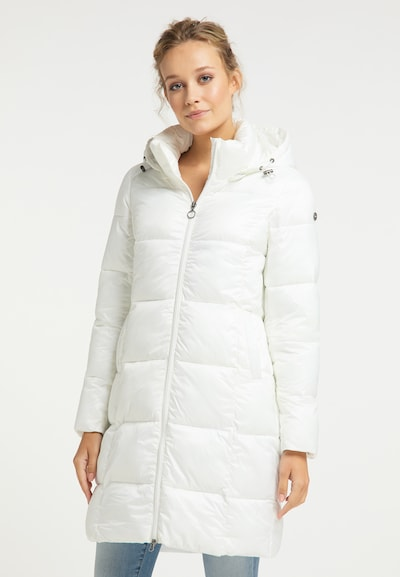 DreiMaster Maritim Manteau d'hiver en blanc, Vue avec modèle