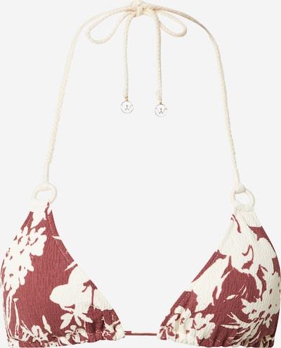 watercult Bikinitop in beige / dunkelrot, Produktansicht