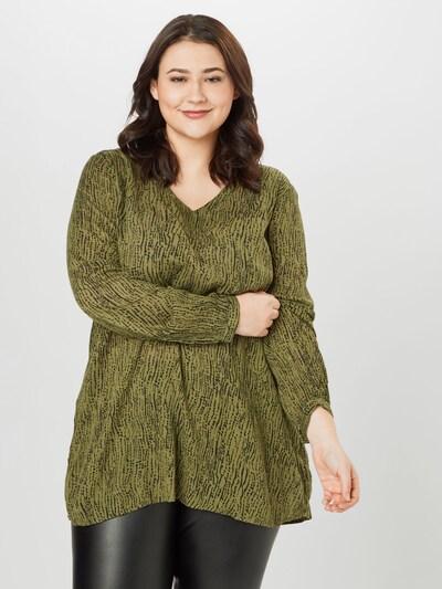 KAFFE CURVE Bluse 'Crioli' in oliv / schwarz, Modelansicht