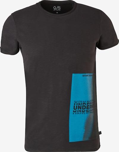 Q/S designed by T-Shirt in himmelblau / schwarz, Produktansicht