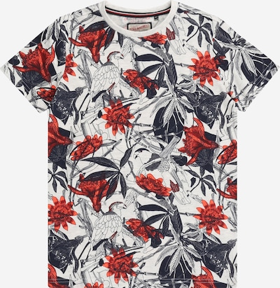 Petrol Industries T-shirt i nattblå / korall / röd / vit, Produktvy