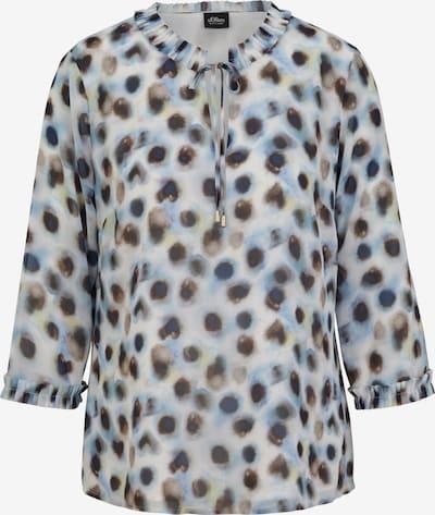 s.Oliver BLACK LABEL Bluse in beige / hellblau / dunkelblau / braun, Produktansicht