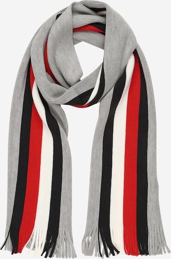 TOMMY HILFIGER Šal   siva / rdeča / črna / off-bela barva, Prikaz izdelka