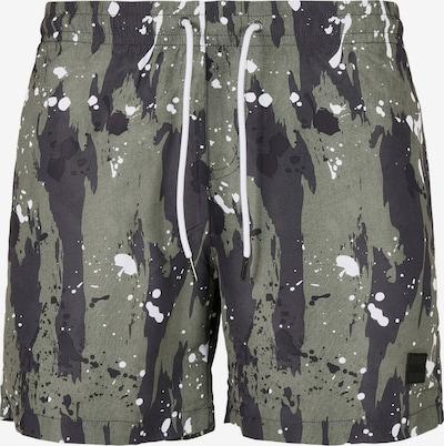 Urban Classics Plavecké šortky - olivová / čierna / biela, Produkt