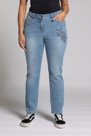 Ulla Popken Jeans in Blauw