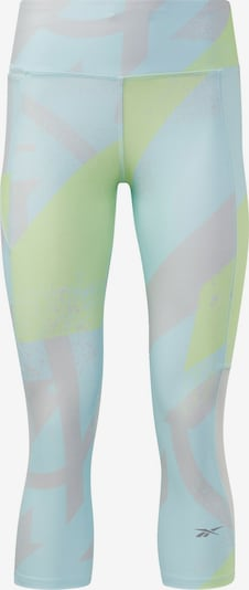 REEBOK Sportbroek in de kleur Lichtblauw / Lichtgroen / Poederroze, Productweergave