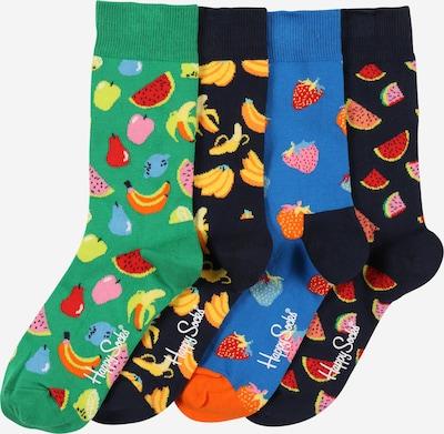 Happy Socks Ponožky 'Fruit' - námornícka modrá / nebesky modrá / žltá / svetlozelená / čierna, Produkt