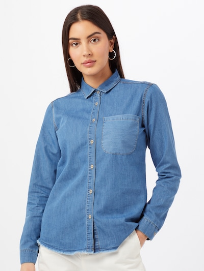 Trendyol Bluse in blue denim, Modelansicht