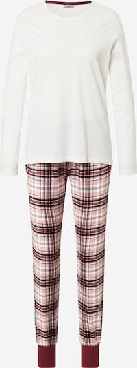 ESPRIT Pyjama in rot / schwarz / weiß, Produktansicht
