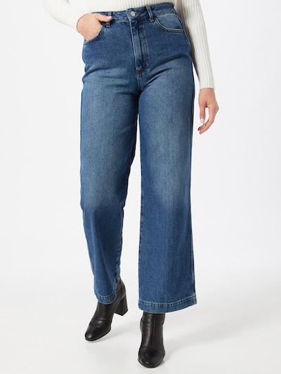 Jeans NU-IN di colore blu denim, Visualizzazione modelli