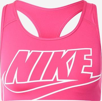 NIKE Sports bra 'SWOOSH FUTURA' in Pink