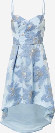 Chi Chi London Robe de cocktail 'Sara' en bleu fumé / bleu clair / argent, Vue avec produit