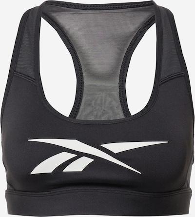 Reebok Sport Soutien-gorge de sport en noir / blanc, Vue avec produit
