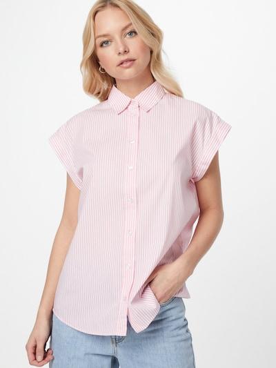BOSS Casual Bluse 'Bemirta' in pink / weiß, Modelansicht