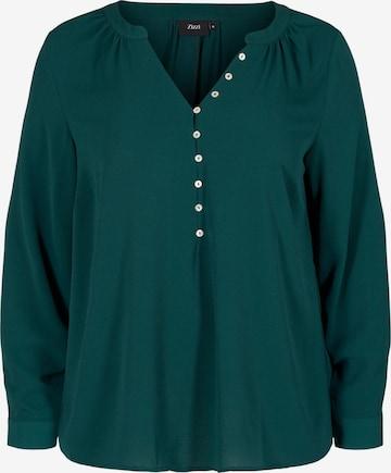 Zizzi Bluse 'Eanni' in Grün