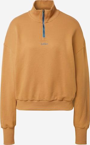 LeGer by Lena GerckeSweater majica 'Stefanie' - smeđa boja