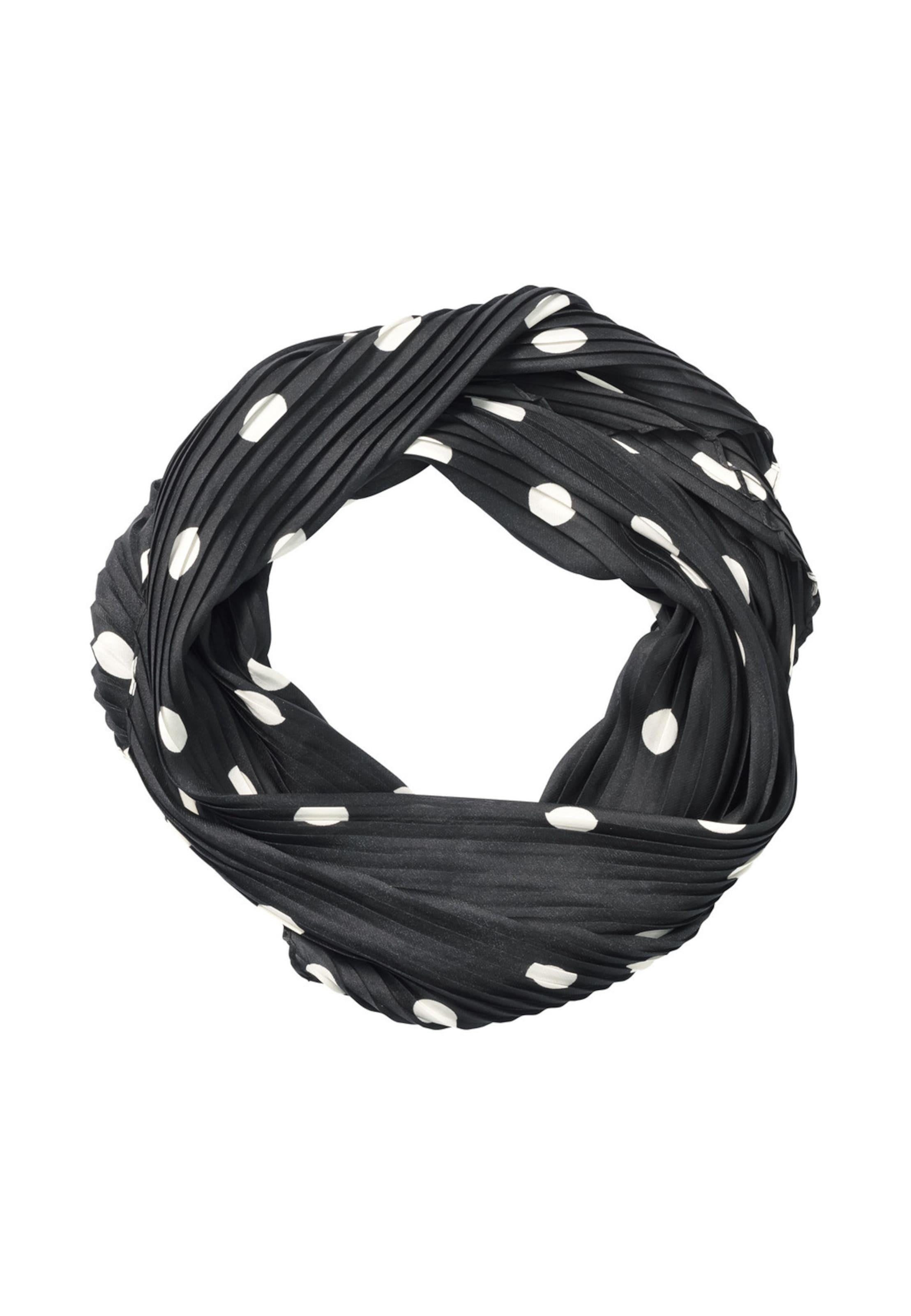 HALLHUBER Plisseetuch in schwarz / weiß
