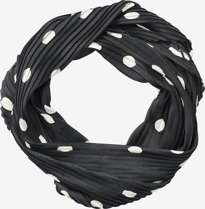 HALLHUBER Plisseetuch in schwarz / weiß, Produktansicht
