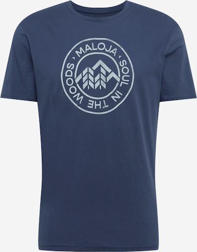 Tricou funcțional 'Rotbirne' Maloja pe albastru închis / alb, Vizualizare produs