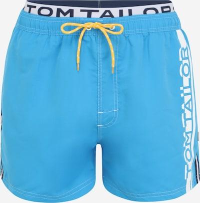 TOM TAILOR Maillot de bain en bleu marine / bleu clair / blanc, Vue avec produit