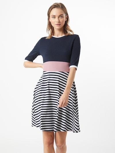 EDC BY ESPRIT Kleid in navy / pink / weiß, Modelansicht