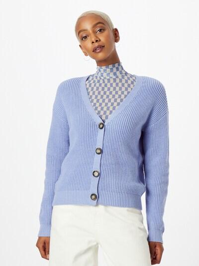 PIECES Strickjacke 'KARIE' in hellblau, Modelansicht