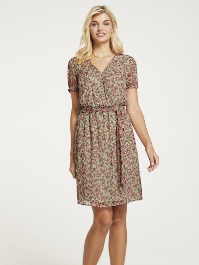 heine Kleid in pastellgrün / dunkelgrün / himbeer / altrosa / weiß, Modelansicht