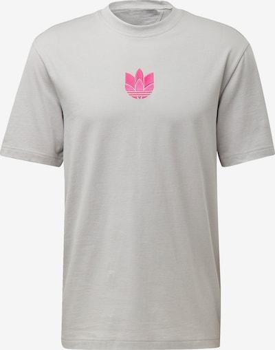 ADIDAS ORIGINALS Shirt 'Trefoil' in de kleur Grijs / Pink: Vooraanzicht