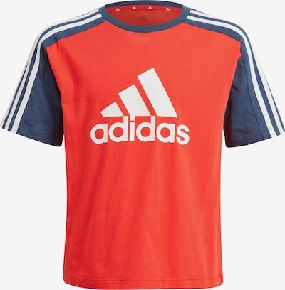 ADIDAS PERFORMANCE Sportshirt in taubenblau / orangerot / weiß, Produktansicht