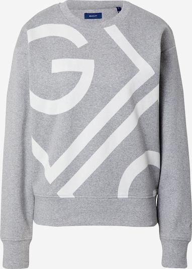 Bluză de molton GANT pe gri amestecat / alb, Vizualizare produs
