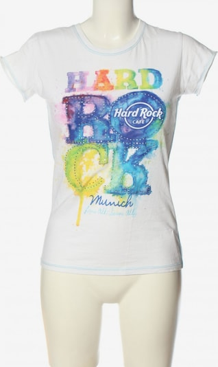 Hard Rock Cafe Top & Shirt in XS in Blue / Pastel yellow / White, Item view