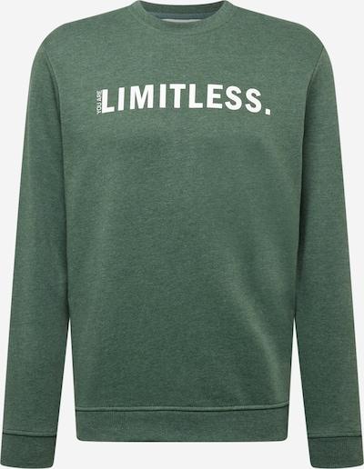 !Solid Sweatshirt in grünmeliert / weiß, Produktansicht