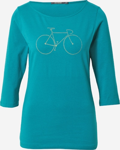 GREENBOMB Shirt in goldgelb / petrol, Produktansicht