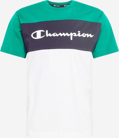 Champion Authentic Athletic Apparel T-Shirt in navy / grün / weiß, Produktansicht
