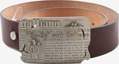 Galliano Lederimitatgürtel in XS-XL in braun / silber, Produktansicht