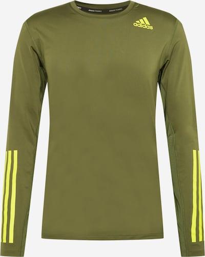 ADIDAS PERFORMANCE Camiseta funcional en caqui / verde neón, Vista del producto