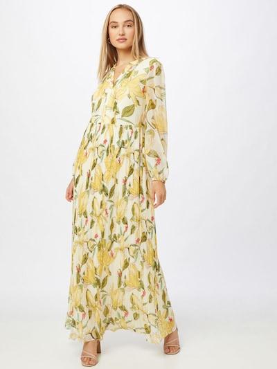 COMMA Haljina u žuta / pastelno žuta / maslinasta / ružičasta / biserno bijela, Prikaz modela