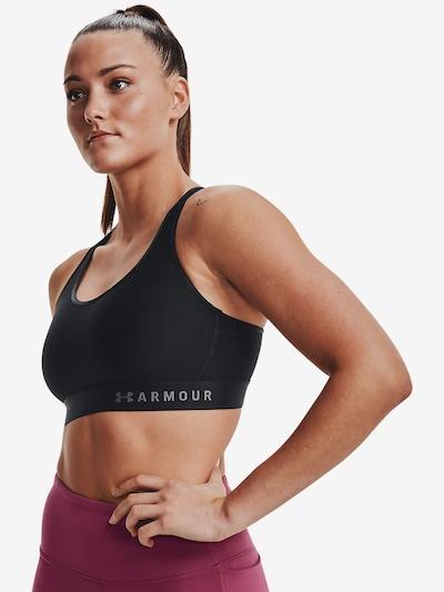 UNDER ARMOUR Sport-BH 'Armour' in grau / schwarz: Frontalansicht