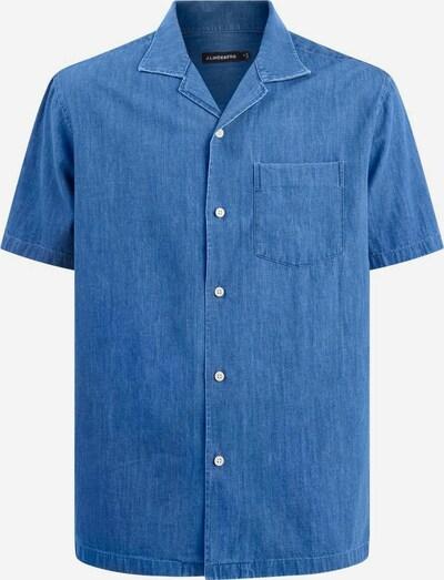 J.Lindeberg Overhemd 'Bob' in de kleur Blauw denim, Productweergave
