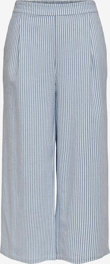 Pantaloni con pieghe ONLY di colore blu chiaro / bianco, Visualizzazione prodotti