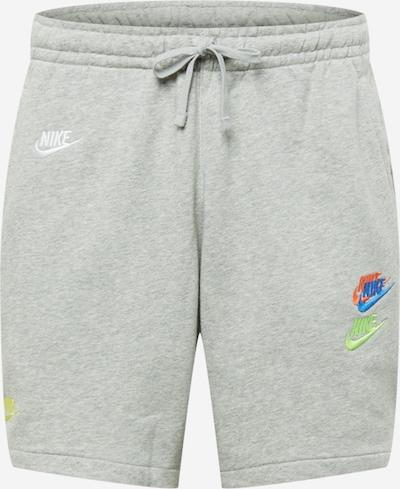 Pantaloni Nike Sportswear pe azuriu / gri amestecat / verde deschis / portocaliu deschis / alb, Vizualizare produs