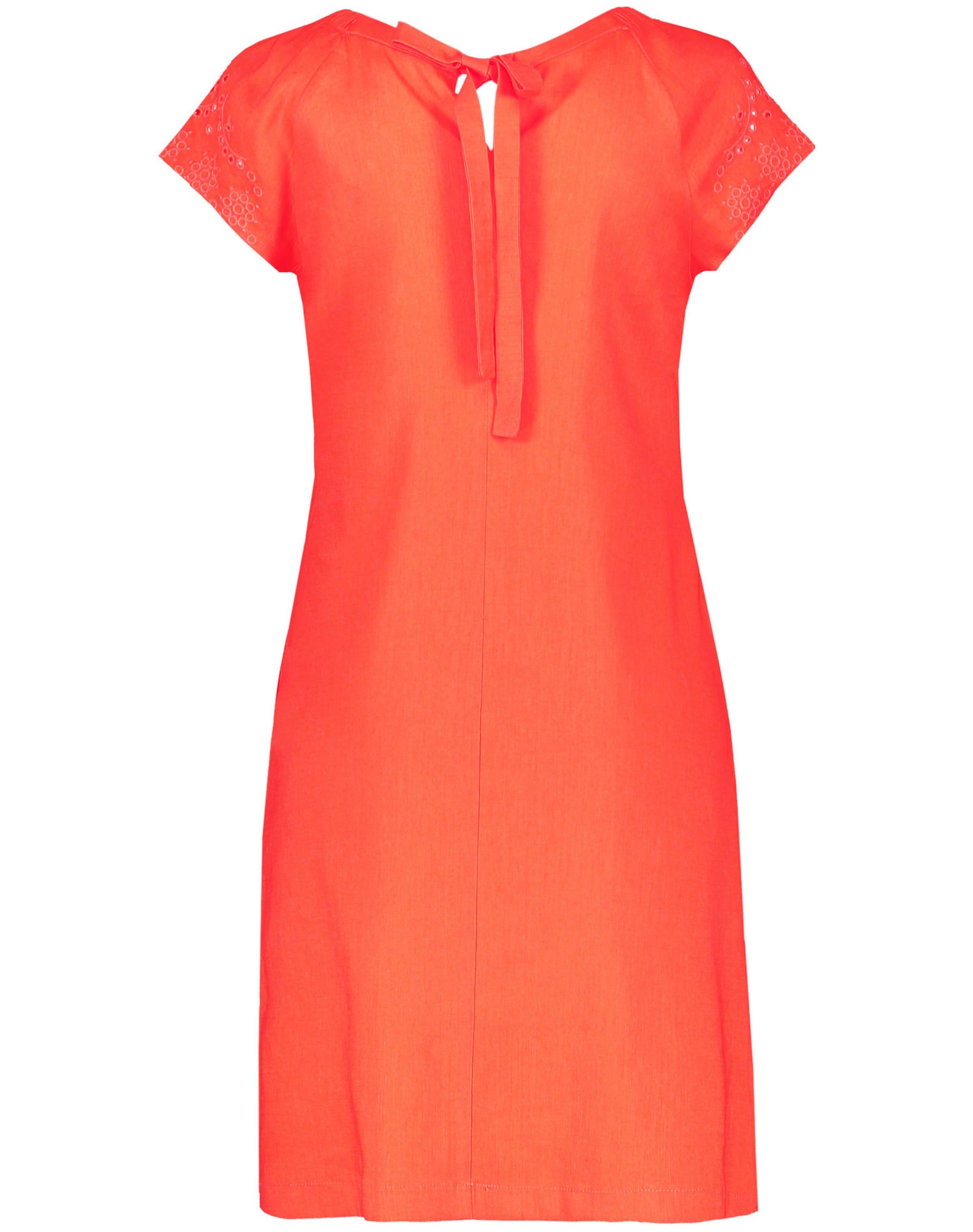 TAIFUN Kleid in orangerot