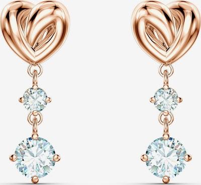 Swarovski Boucles d'oreilles 'Lifelong Heart' en or rose / transparent, Vue avec produit
