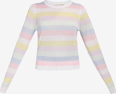 MYMO Pullover in hellblau / hellgelb / flieder / altrosa / naturweiß, Produktansicht