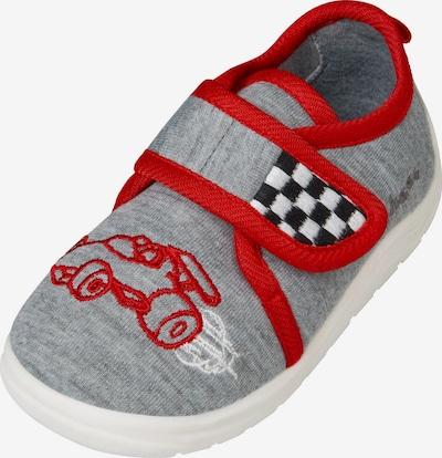 PLAYSHOES Pantofle 'Rennwagen' - šedá / červená / černá / bílá, Produkt