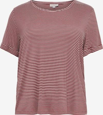 ONLY Carmakoma T-Shirt 'Nanna' in pastellrot / weiß, Produktansicht