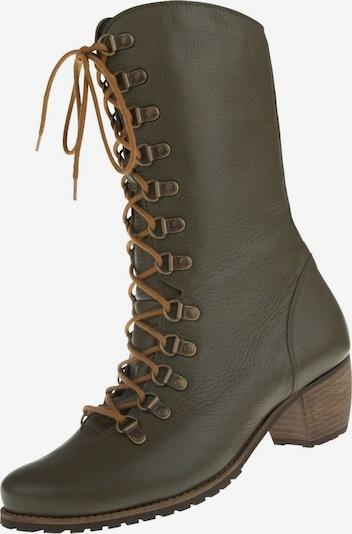 Natural Feet Stiefel 'Livigno' in dunkelgrün, Produktansicht