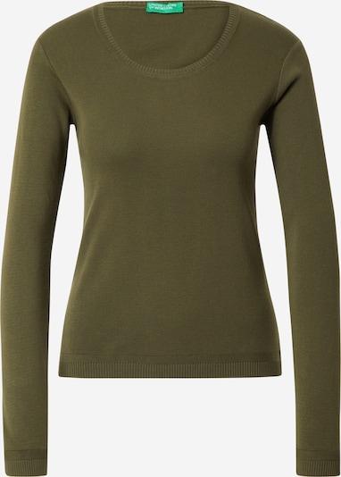 UNITED COLORS OF BENETTON Pullover in dunkelgrün, Produktansicht